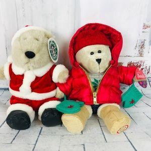 STARBUCKS Lot of 2 Bearista Bears 2000 & 2006 Tags